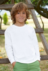 Kinder T-shirt lange mouw Fruit Of The Loom Kids LS Valueweight